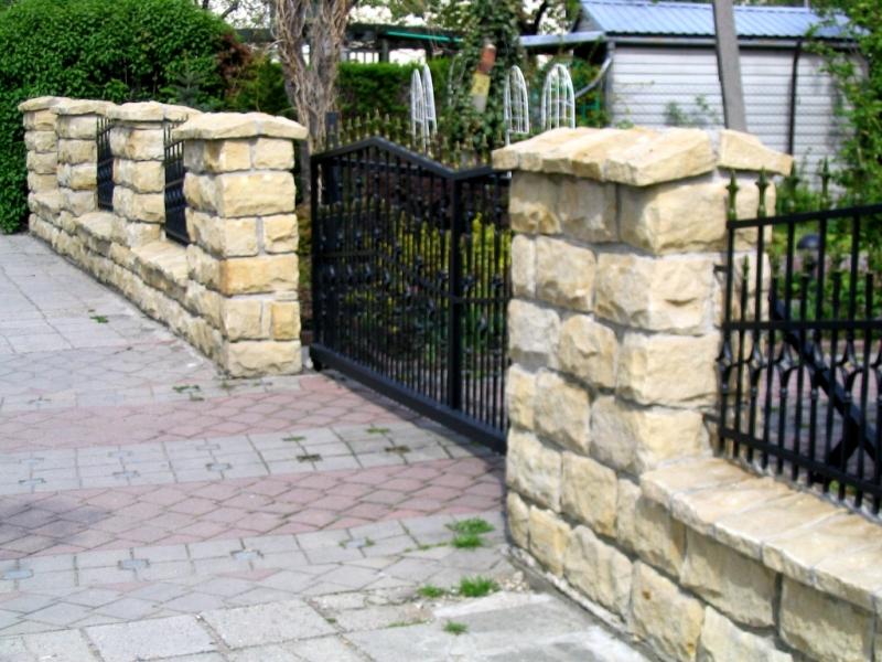 Nowość Kamień łupany - ogrodzenie z piaskowca EM25